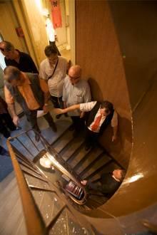 L'escalier de l'Hotel des Voyageurs de Saint Vallier