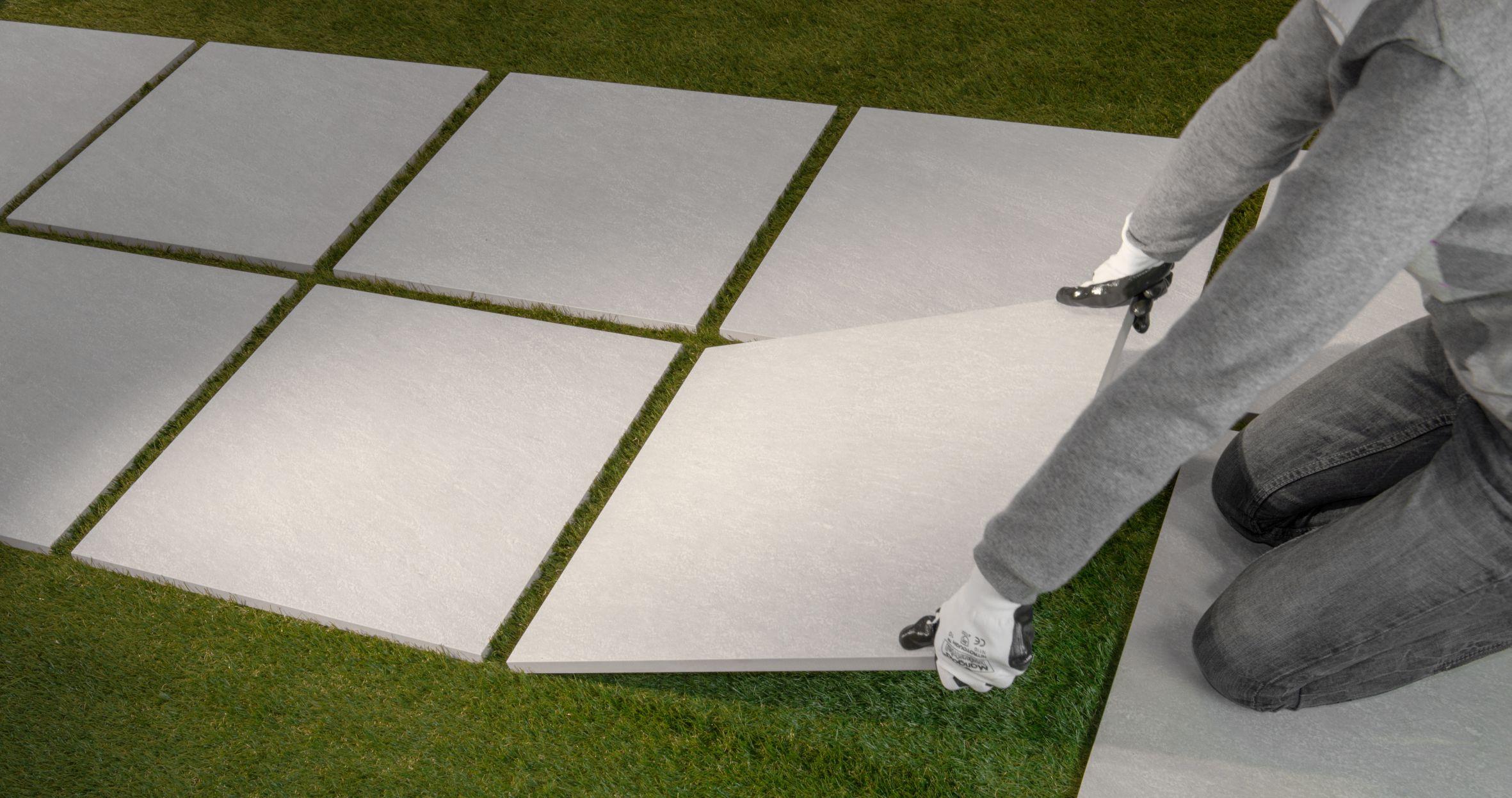 Posa Pavimento A Secco Giardino sistema di posa flottante di piastrelle in ceramica: outdoor
