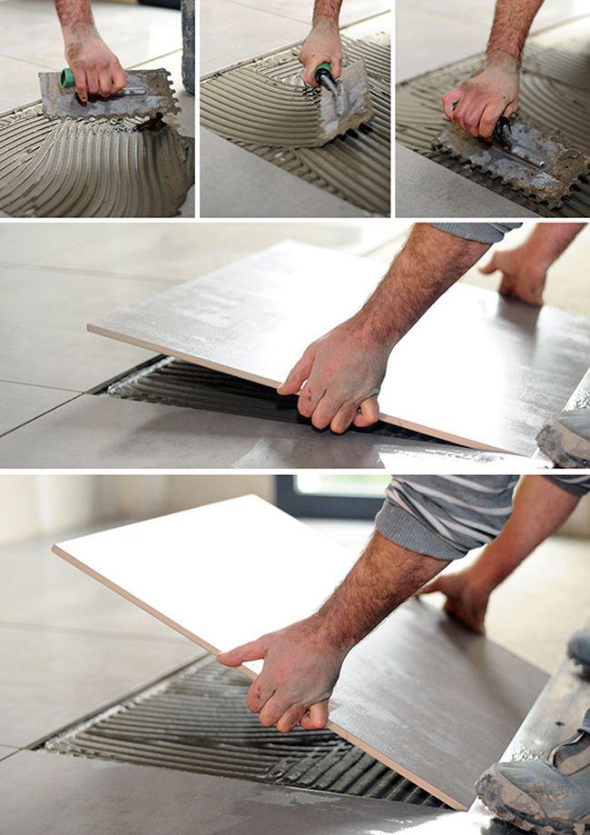 Come posare piastrelle su un pavimento in ceramica esistente - Posa piastrelle su piastrelle ...