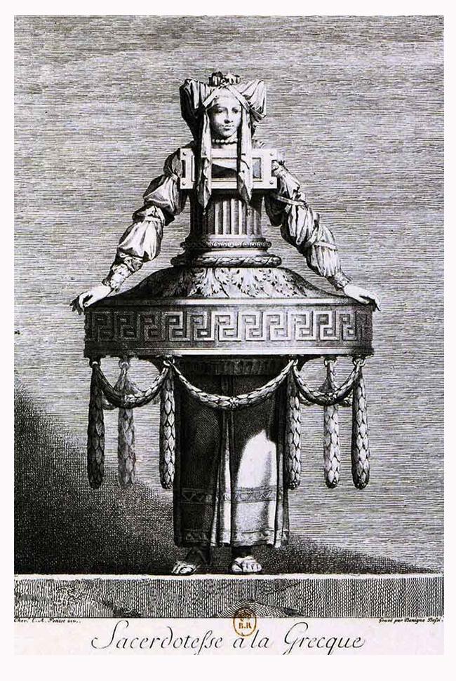 La Sacerdotesse- mascarade à la grecque - Petitot