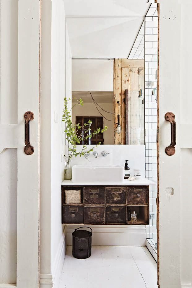Mobili archivio per bagno