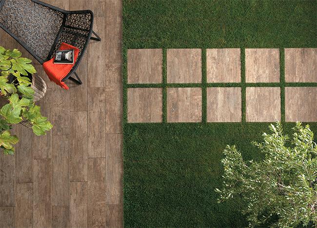 Rivestimento in legno per terrazza