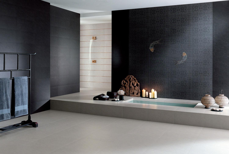 Piastrelle nere per bagno gres porcellanato nero novoceram