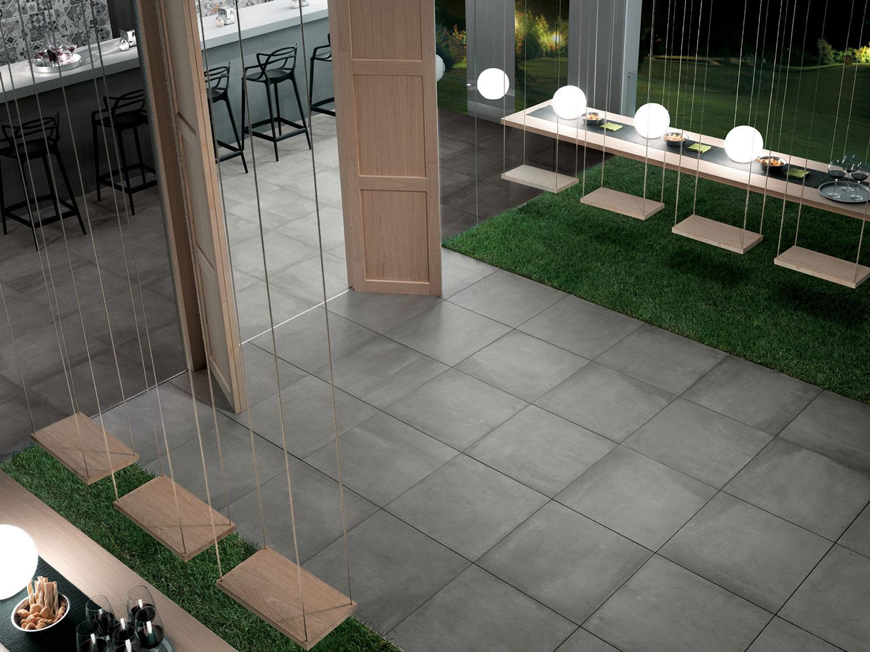 Piastrelle effetto cemento per pavimenti esterni in gres porcellanato - Piastrelle da balcone ...