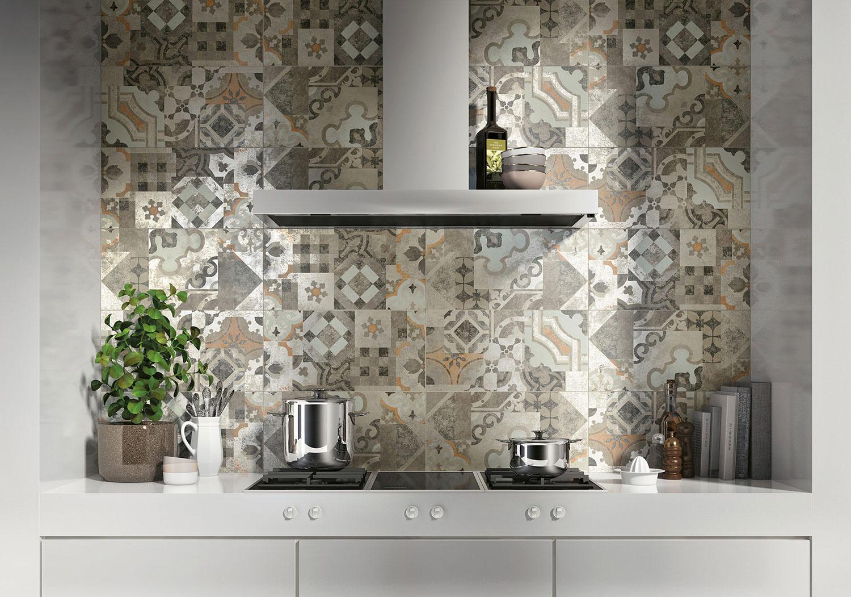 Piastrelle Effetto Cementine per Cucina in Gres Porcellanato
