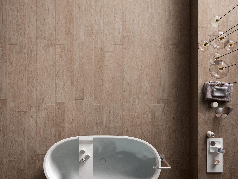 Piastrelle marroni per bagno gres porcellanato marrone - Bagno piastrelle marroni ...