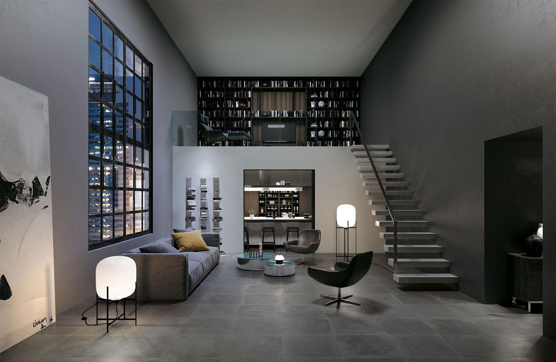 Piastrelle grigio scuro per soggiorno gres porcellanato for Soggiorno grigio