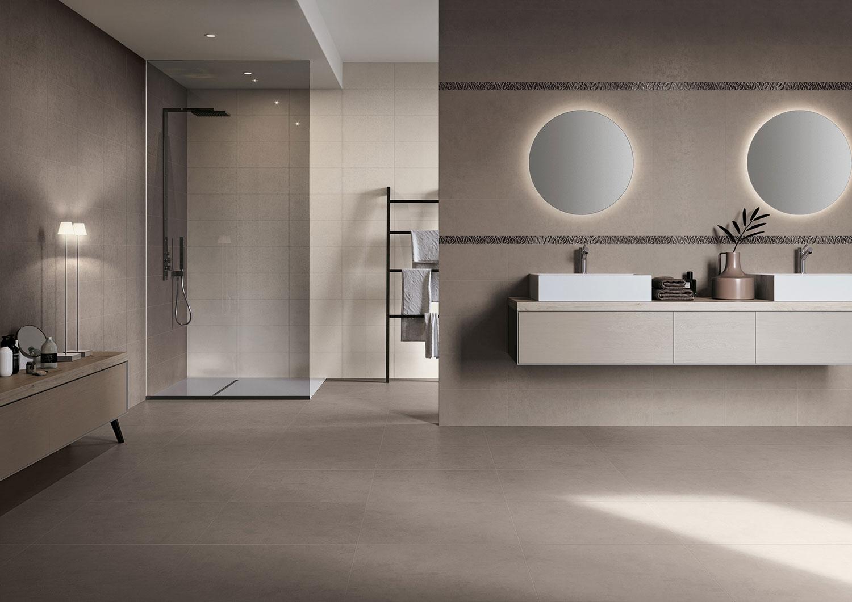Rivestimenti Per Bagno In Resina piastrelle effetto resina per bagno in gres porcellanato