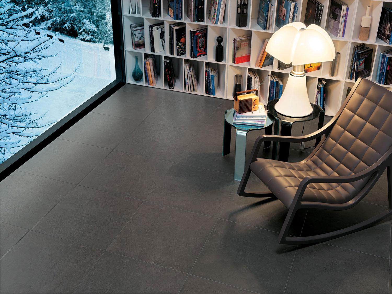 Piastrelle grigio scuro per casa gres porcellanato antracite per