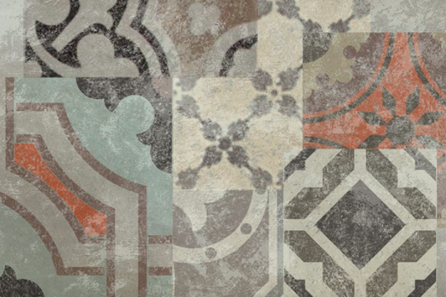 Piastrelle effetto cementine per bagno in gres porcellanato