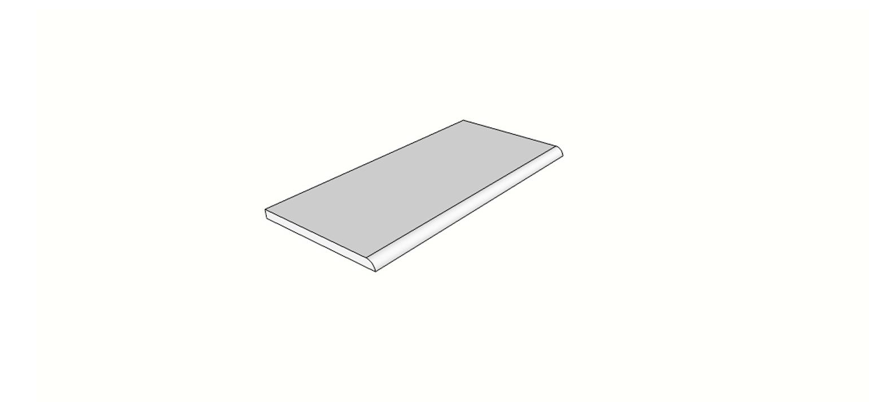 """Bordo arrotondato becco di civetta <span style=""""white-space:nowrap;"""">30x60 cm</span>  <span style=""""white-space:nowrap;"""">sp. 20mm</span>"""