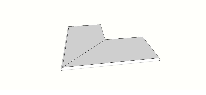 """Angolo esterno completo (2pz) bordo arrotondato <span style=""""white-space:nowrap;"""">30x60 cm</span>  <span style=""""white-space:nowrap;"""">sp. 20mm</span>"""