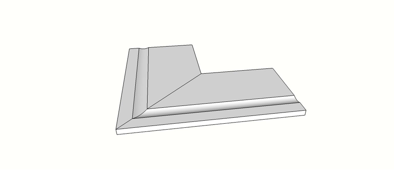 "Angolo esterno completo (2pz) bordo rettilineo svasato <span style=""white-space:nowrap;"">30x60 cm</span>  <span style=""white-space:nowrap;"">sp. 20mm</span>"