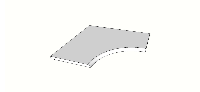 """Angolo curvilineo becco di civetta <span style=""""white-space:nowrap;"""">60x60 cm</span>  <span style=""""white-space:nowrap;"""">sp. 20mm</span>"""