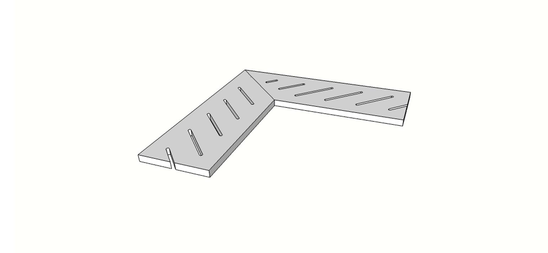 "Angolo griglia completo (2 pz) <span style=""white-space:nowrap;"">20x60 cm</span>  <span style=""white-space:nowrap;"">sp. 20mm</span>"