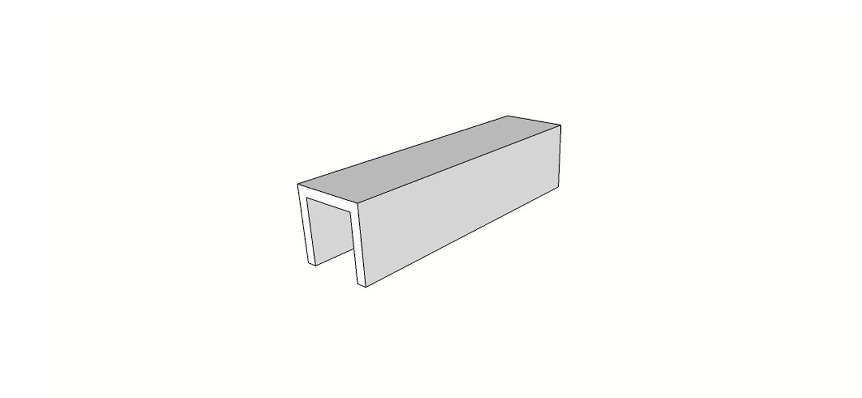 """Bordo a U <span style=""""white-space:nowrap;"""">15x60 cm</span>  <span style=""""white-space:nowrap;"""">sp. 20mm</span>"""