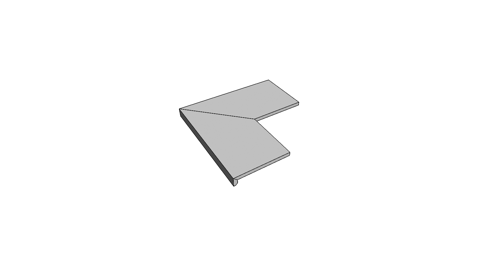 """Bordo a L incollato angolo esterno completo (2pz) <span style=""""white-space:nowrap;"""">30x60 cm</span>  <span style=""""white-space:nowrap;"""">sp. 20mm</span>"""