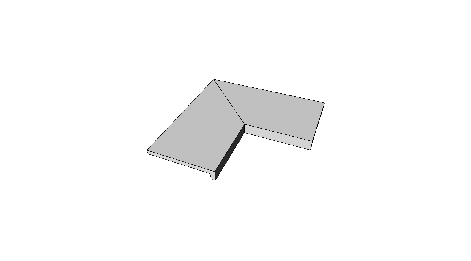 """Bordo a L incollato angolo interno completo (2pz) <span style=""""white-space:nowrap;"""">30x60 cm</span>  <span style=""""white-space:nowrap;"""">sp. 20mm</span>"""
